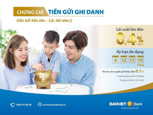 BAOVIET Bank phát hành 2,000 tỷ đồng chứng chỉ tiền gửi ghi danh cho khách hàng cá nhân với lãi suất lên đến 8,4% - Ảnh 2.