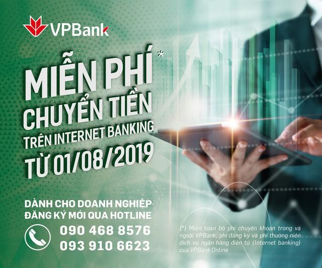 VPBank miễn phí dịch vụ Internet Banking đối với Khách hàng Doanhnghiệp - Ảnh 1.