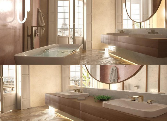 Check-in sang chảnh tại phòng tắm thiết kế tựa resort cao cấp ở châu Âu - Ảnh 2.