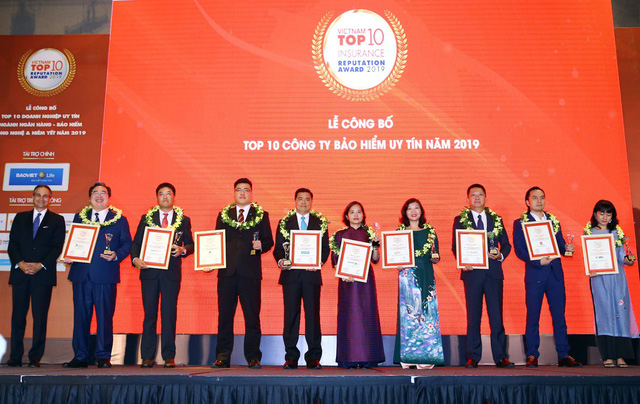 """Chubb Life Việt Nam được vinh danh """"Top 10 doanh nghiệp bảo hiểm nhân thọ uy tín năm 2019"""" - Ảnh 1."""