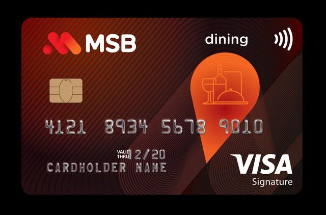 MSB ra mắt thẻ tín dụng hoàn tiền cao trong lĩnh vực ẩm thực - Ảnh 1.