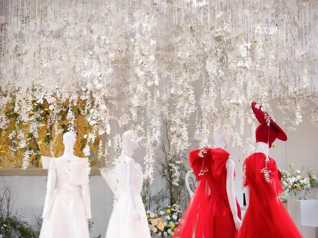 Hé lộ không gian thần tiên mộng ảo, chứa đựng các thiết kế cưới đẳng cấp của Phương My - ảnh 3