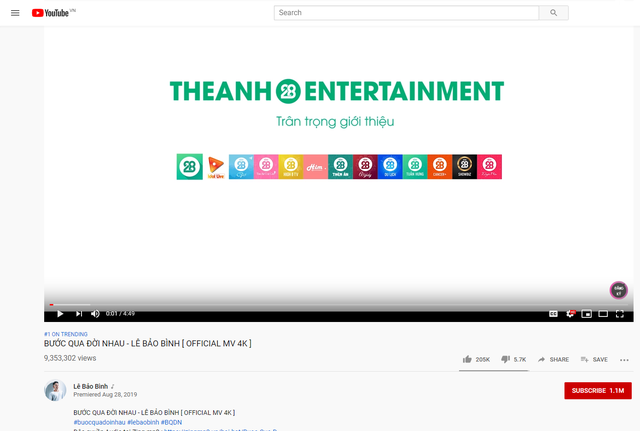 Theanh28 gây bất ngờ với bảng xếp hạng Top Trending Youtube - Ảnh 3.