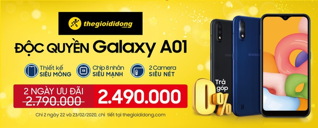 Dễ dàng sắm Samsung Galaxy A01, smartphone phổ thông đáng sở hữu tại Thế Giới Di Động - ảnh 4