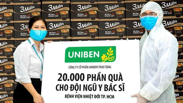 Uniben trao tặng 150.000 bữa ăn dinh dưỡng cho đội ngũ Y Bác sĩ - Ảnh 2.