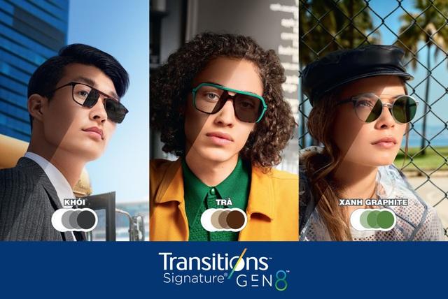 Kính đổi màu Transitions® Signature® Gen 8™ thế hệ mới của Essilor - Phong cách thời thượng - Ảnh 1.
