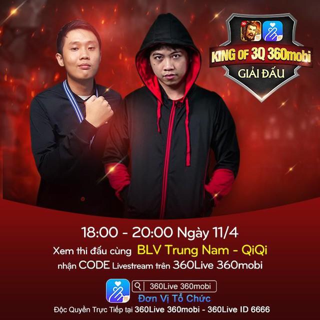 Trung Nam, QiQi thường xuyên live stream trên 360Live 360mobi