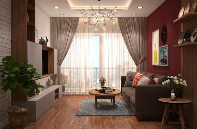 Phòng khách hiện đại, ấm cúng