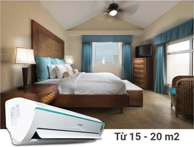 Một chiếc điều hòa Samsung 12000BTU dành cho phòng ngủ rộng 20m2.