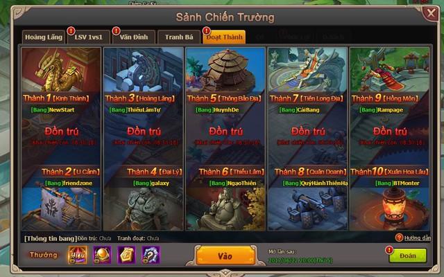 Những lợi ích khi tham gia Bang Hội trong webgame Đại Kiếm Vương