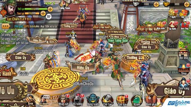 """Vừa ra mắt, các game thủ Quan Vân Trường mobile đã """"khí thế"""" đua nhau tranh TOP server"""