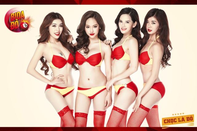 Hot girl Thúy Vi và Phi Huyền trang bất ngờ cởi đồ trong game Bida Đỏ