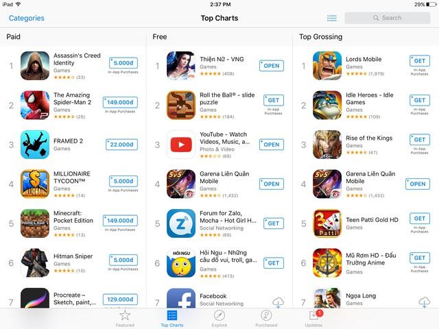 Thiện Nữ Mobile bứt phá ngoạn mục khi đứng Top trending trên AppStore và Google Play