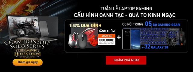 FPT Shop tặng 5 bộ gaming gear cho khách hàng mua laptop