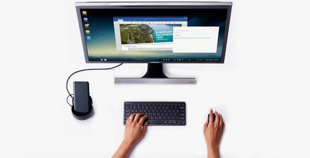"""Tôi có ngay một bộ máy tính để bàn tiện dụng chỉ sau vài phút """"lắp ráp"""" Galaxy S8 với Samsung Dex Station."""