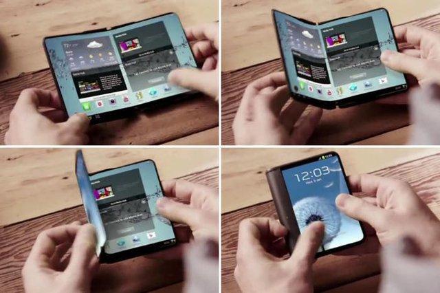 Samsung sẽ là hãng đầu tiên ra mắt điện thoại có thể gấp lại như một chiếc ví