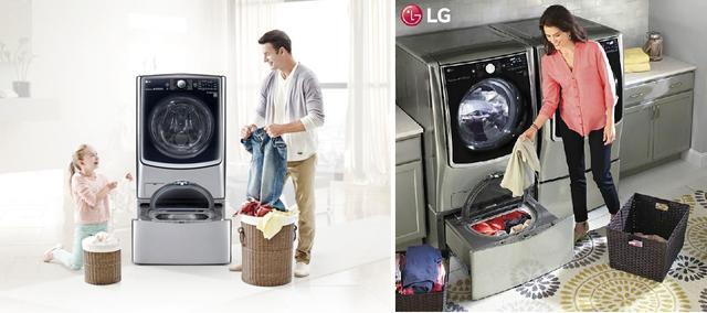 Máy giặt LG với thiết kế lồng giặt đôi vô cùng tiện lợi