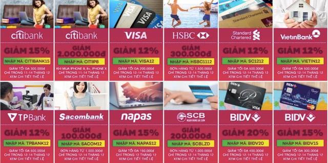 Thanh toán bằng thẻ để nhận được ưu đãi khi mua sắm online