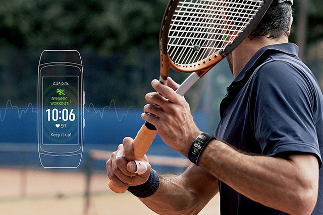 Gear Fit2 Pro với GPS tích hợp ghi nhận mọi thông tin nơi bạn luyện tập. GPS là tính năng khá hiếm thấy trên vòng đeo thông minh, chủ yếu được tích hợp cho đồ chuyên phượt.