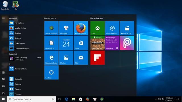 Giao diện hệ điều hành Windows của Smartbox PC
