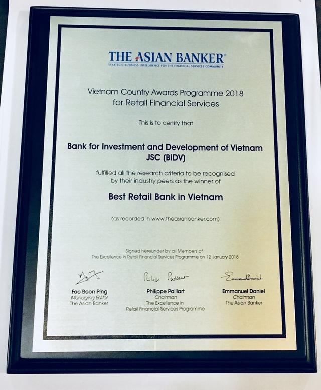 Liên tục là Ngân hàng bán lẻ tốt nhất, BIDV ghi dấu ấn Ngân hàng Việt trên trường quốc tế - Ảnh 2.
