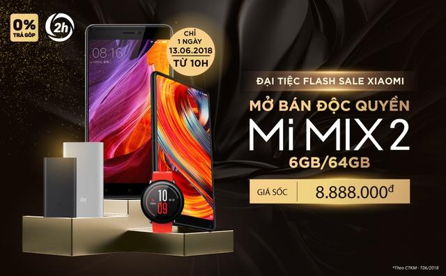 """""""Đại tiệc Flash Sale Xiaomi"""" ưu đãi sốc tại Tiki.vn từ 10h chỉ trong ngày 13/06/2018 - Ảnh 1."""