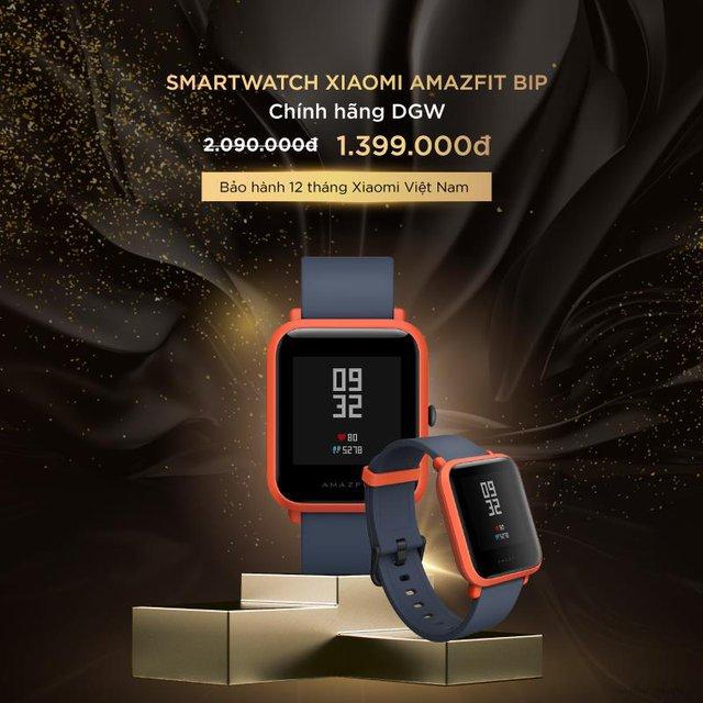 Smartwatch Xiaomi Amazfit Bip từ giá 2,09 triệu đồng giảm còn 1,399 triệu đồng