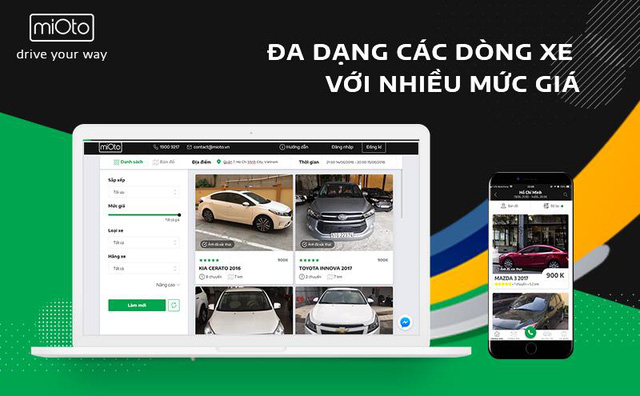 """Ứng dụng Mioto – Mô hình """"Airbnb"""" trong lĩnh vực thuê xe ô tô tại Việt Nam - ảnh 2"""