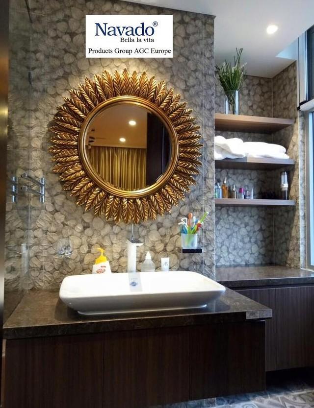 Các mẫu gương phòng tắm nghệ thuật độc đáo nhất hiện nay - Ảnh 1.