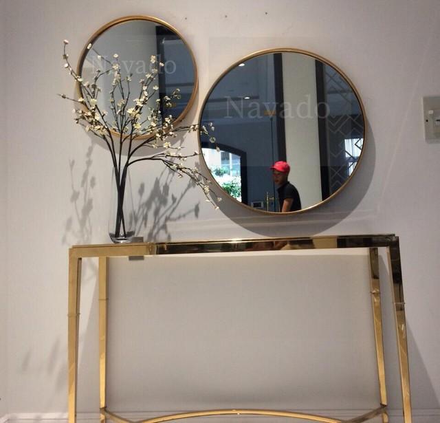 Các mẫu gương phòng tắm nghệ thuật độc đáo nhất hiện nay - Ảnh 2.