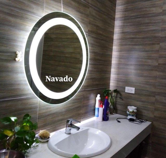Các mẫu gương phòng tắm nghệ thuật độc đáo nhất hiện nay - Ảnh 4.