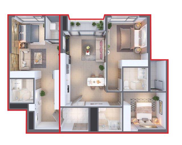 Căn hộ hai chìa khóa Dual Key 3 phòng ngủ - Giải pháp cho gia đình nhiều thế hệ - Ảnh 1.