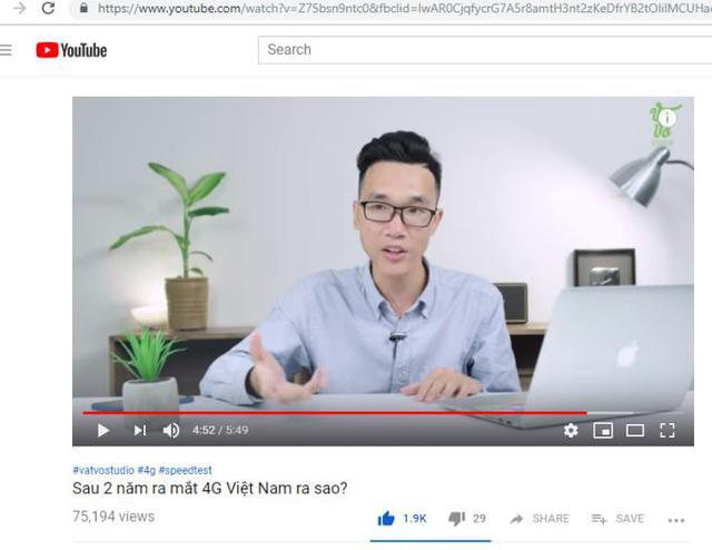 """Clip """"Sau 2 năm ra mắt 4G Việt Nam ra sao?"""" của Vinh Vật Vờ hút giới trẻ - Ảnh 1."""