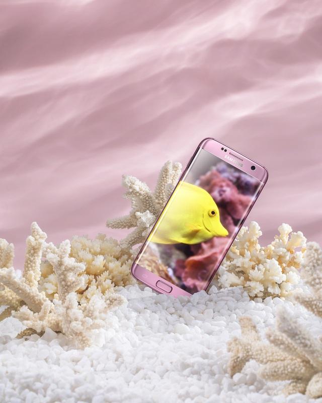 """Bộ tứ Galaxy S7 Edge"""" hóa thân thành báu vật đại dương - Ảnh 1."""