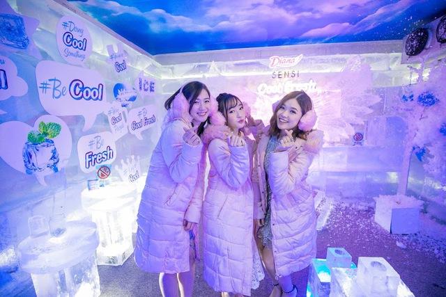 Trâm Anh, Sun HT và Suni Hạ Linh hào hứng khám phá nhà băng -5 độ C ngay tại Hà Nội - Ảnh 3.