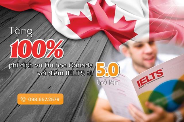 Chỉ cần IELTS 5.0, bạn sẽ được tặng 100% phí dịch vụ Du học Canada - Ảnh 1.