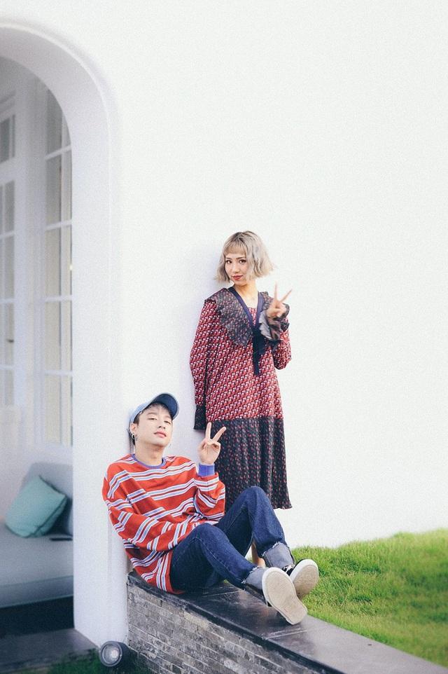 """Mr A và Min siêu nhắng sau hậu trường MV """"Có em chờ"""" - Ảnh 5."""
