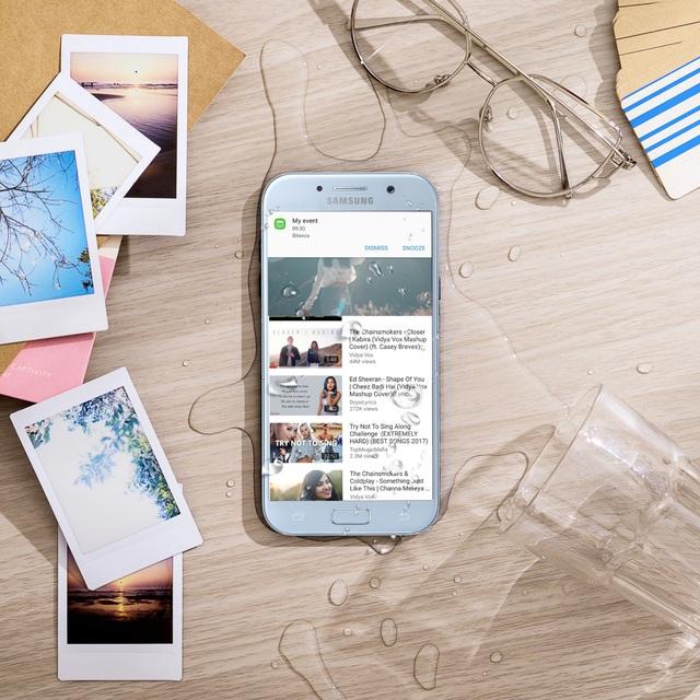 """Galaxy A5 2017 Xanh Pastel lên kệ, biệt đội """"chống nước"""" của Samsung có thêm 1 thành viên - Ảnh 5."""