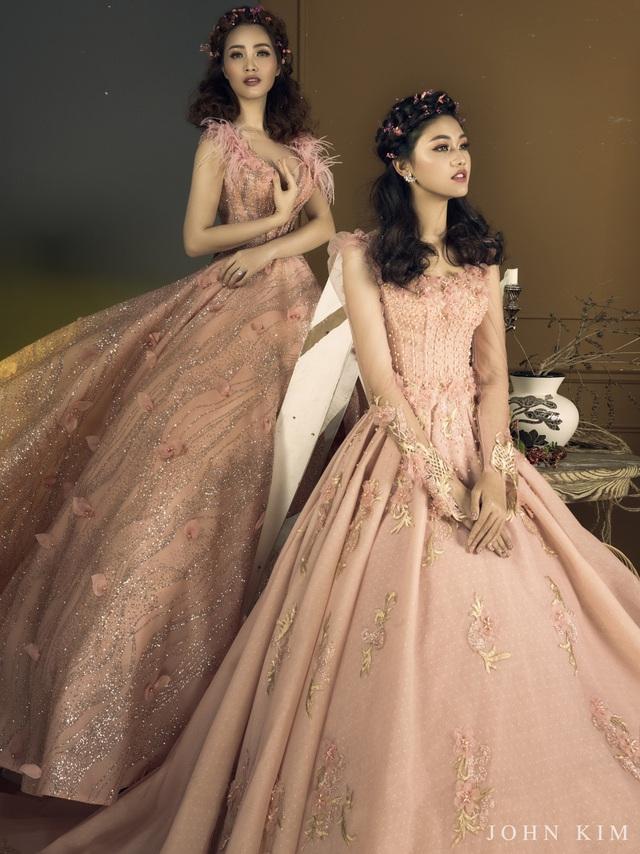 Á hậu Thanh Tú, Thụy Vân lạc vào xứ sở thần tiên với BST váy cưới cổ tích tuyệt đẹp - Ảnh 4.