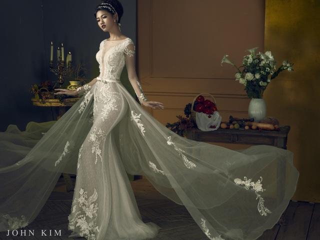 Á hậu Thanh Tú, Thụy Vân lạc vào xứ sở thần tiên với BST váy cưới cổ tích tuyệt đẹp - Ảnh 11.