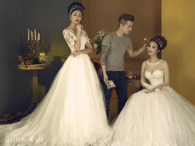 Á hậu Thanh Tú, Thụy Vân lạc vào xứ sở thần tiên với BST váy cưới cổ tích tuyệt đẹp - Ảnh 14.