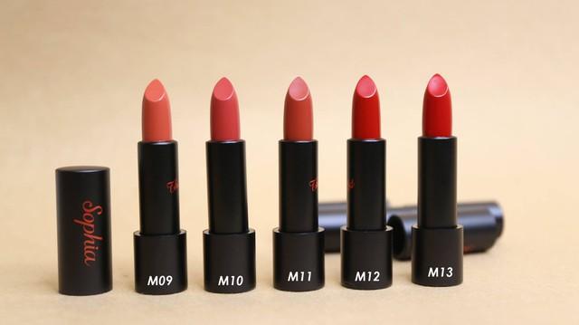 """Review thỏi son huyền thoại """"Sophia Ampoule Matte Lipstick Limited"""" - Ảnh 3."""