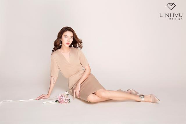 Tú Hảo đẹp hút hồn trong BST mới của thương hiệu LINHVU Design - Ảnh 3.