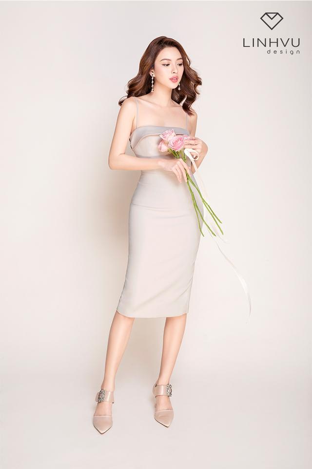 Tú Hảo đẹp hút hồn trong BST mới của thương hiệu LINHVU Design - Ảnh 5.