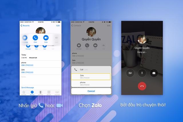 Không cần mở ứng dụng, đã có thể gọi điện bằng Zalo ngay từ danh bạ - Ảnh 1.