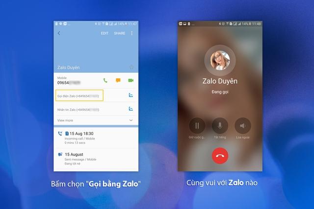 Không cần mở ứng dụng, đã có thể gọi điện bằng Zalo ngay từ danh bạ - Ảnh 2.