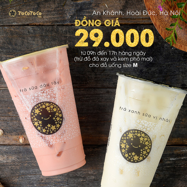 Bí kíp săn trà sữa giá hời chỉ có ở TocoToco An Khánh (Hà Nội) - Ảnh 1.