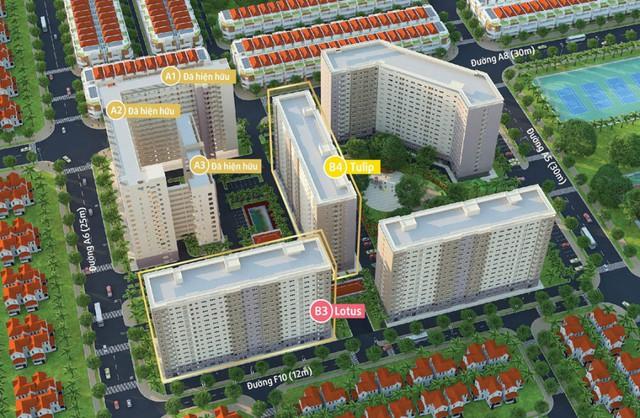 Green Town Bình Tân được quy hoạch để trở thành một đô thị nhỏ đẹp mắt, với cây xanh và đầy đủ tiện ích cho cuộc sống thêm tiện nghi.