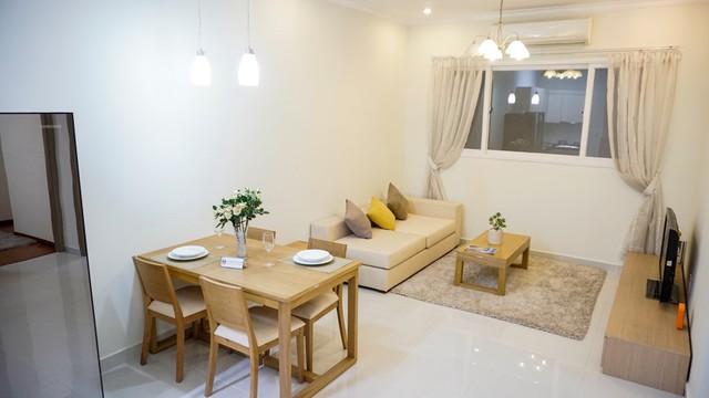 Các căn hộ Green Town Bình Tân đều được thiết kế tràn đầy ánh sáng, không khí và không gian sống, diện tích 49m2 với 2 phòng ngủ phù hợp với gia đình có 3 – 4 thành viên.