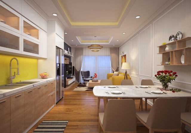 Căn hộ thiết kế hiện đại, hợp lý với diện tích đa dạng từ 55,43m2 – 99.57m2 có giá bán 25 triệu/m2 (diện tích thông thủy, đã bao gồm VAT).